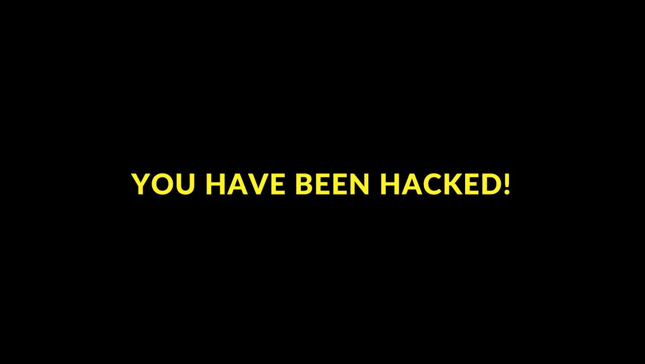 hacked-caution